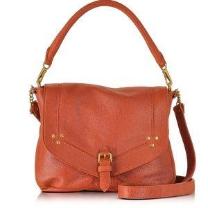 Jerome Dreyfuss Virgile Rust Leather Shoulder Bag